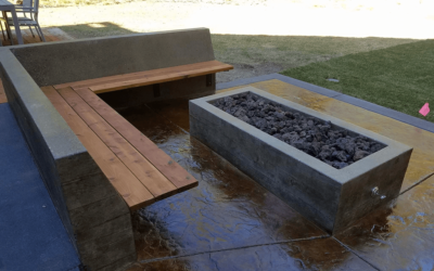 Concrete Firepit & Outdoor Living Space