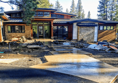 Decorative concrete flatwork by OR. CONCRETE INC. Concrete Contractor located in Bend, OR.