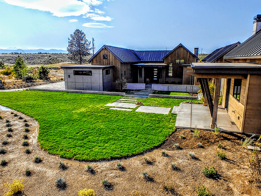 Home in exclusive community of Tetherow with concrete completed by OR. CONCRETE INC. of Bend, OR